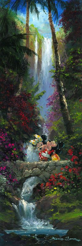 Disney Fine Art | A Kiss By the Falls | James Coleman