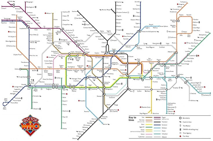 doctor who london underground tube map