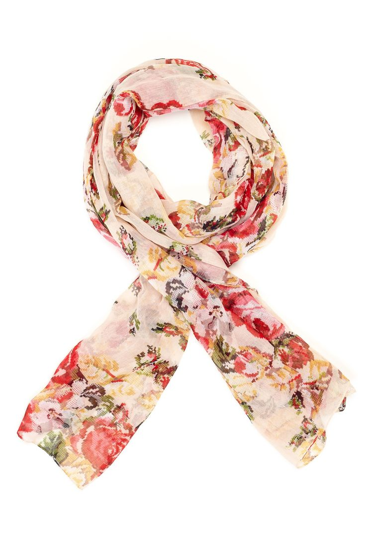 Pretty Floral Scarf. to go link... cool site