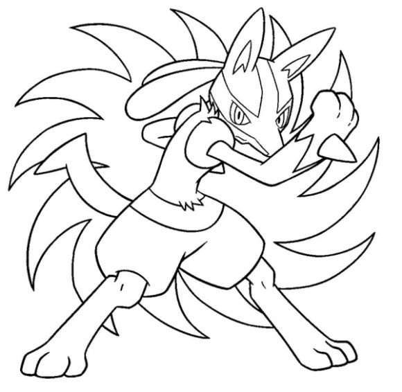 Lucario Coloring Page With Images Horse Coloring Pages