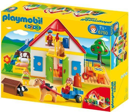 Playmobil - 6750 - Jeu de construction - Coffret Grande ferme 1.2.3 de Playmobil