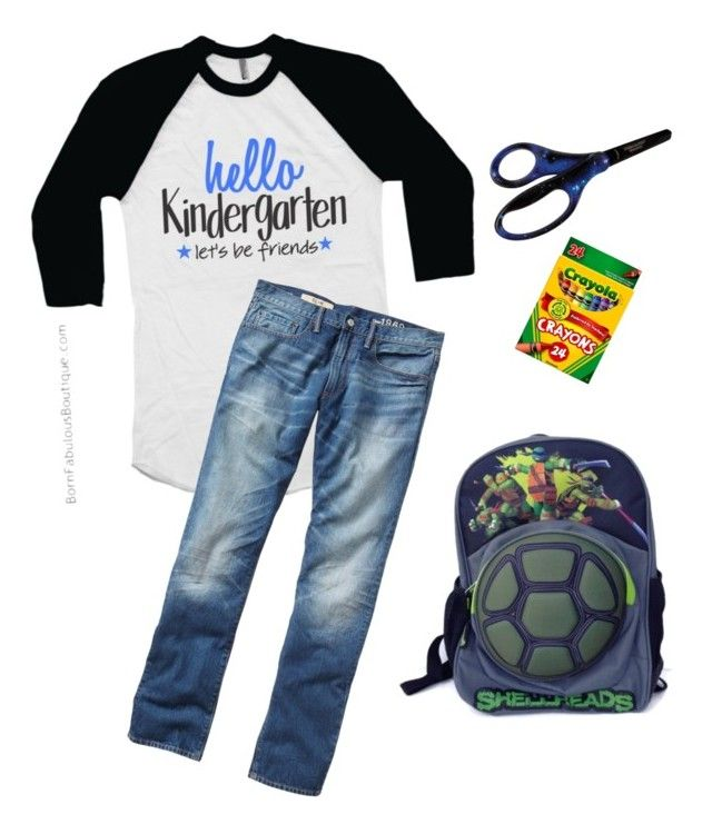 """""""back to school - first day of kindergarten outfit"""" by born-fabulous-boutique on Polyvore featuring Gap and Fiskars"""