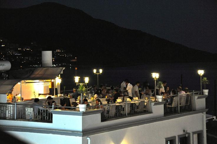 Rooftop restaurant in Kalkan