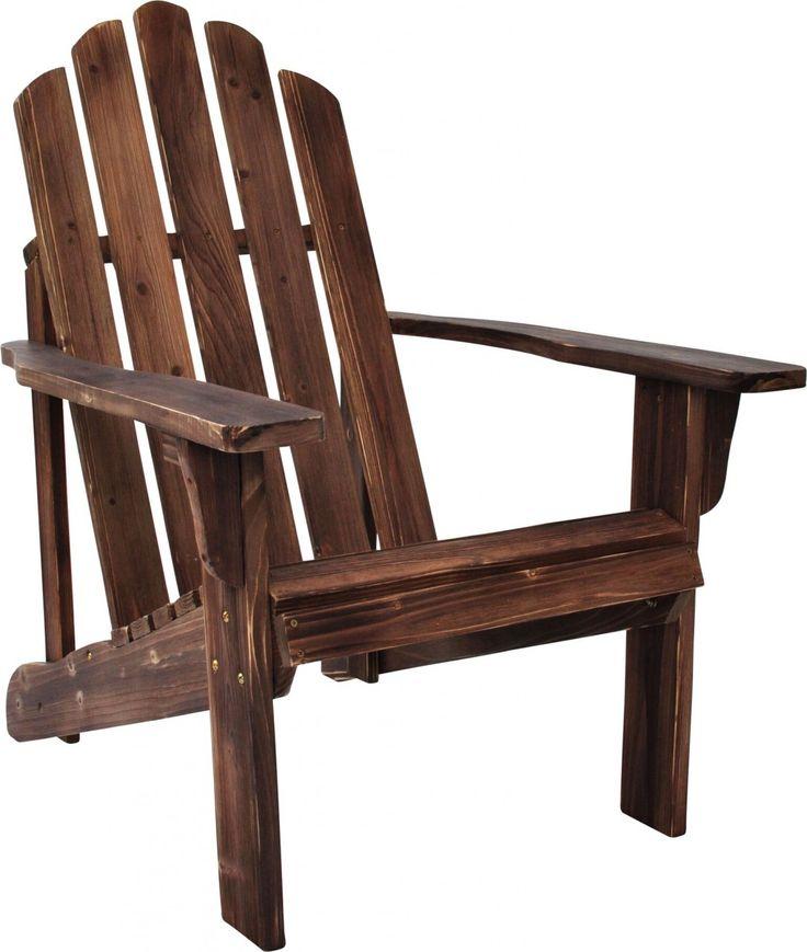 Shine Co Rustic Adirondack Chair in Rustic Wine Finish