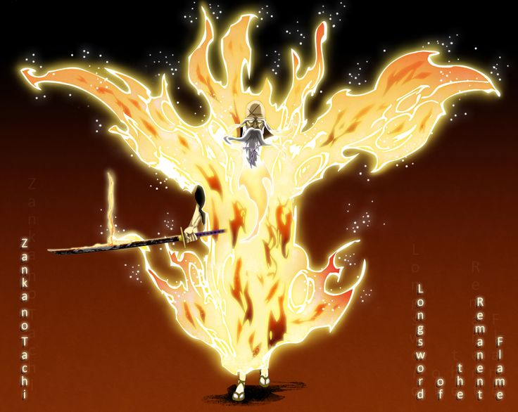 "Zanka no Tachi, Nishi: Zanjitsu Gokui (残火の太刀 ""西"": 残日獄衣, Longsword of the Remnant Flame, West: Remnant Sun Prison Garb Automatically activated at release, this ability is unseen by the eyes of anyone else unless Yamamoto wills it to be seen. It engulfs his body in heat which reaches a temperature upwards of 15,000,000 degrees. Therefore, it becomes impossible to even touch him while he is using his Bankai.The level of heat produced by this technique"