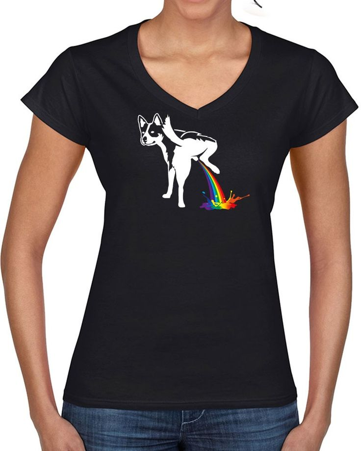 Awesome Tshirts - Piss T-shirt - Ladies V-neck T-shirt - $35