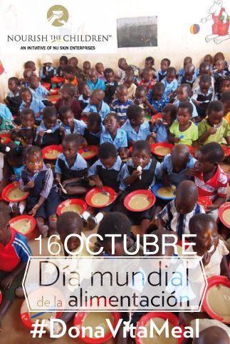 El 16 de Octubre de cada año, se celebra el Día Mundial de la Alimentación proclamado en 1979 por la FAO. Con el fin de concientizar al mundo sobre el problema alimentario mundial y fortalecer la solidaridad en la lucha contra el hambre, la desnutrición y la pobreza.   ¡Únete a la lucha y #DonaVitaMeal ! http://ow.ly/pSM8Z