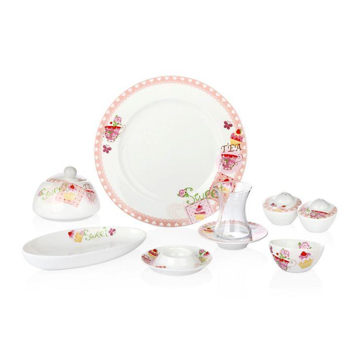 Bernardo Tea Sweet Kahvaltı Takımı / Breakfast Time #bernardo #breakfasttime #teatime #cupcake #tabledesign