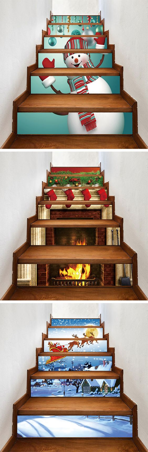 50% OFF Christmas Stair Stickers,Free Shipping Worldwide.