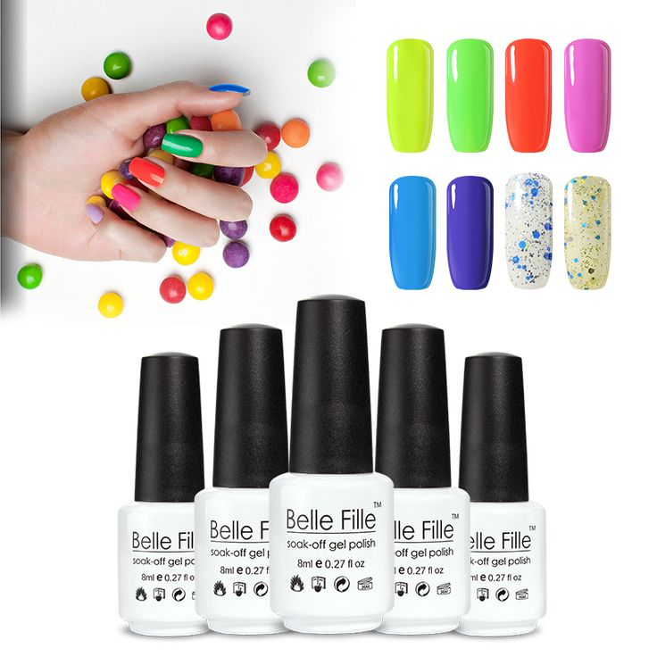 BELLE FILLE  Color Gel Polish 8ml UV Gel Nail Polish Cured by UV Lamp for Nails smalto semi permanente unghie fingernail polish