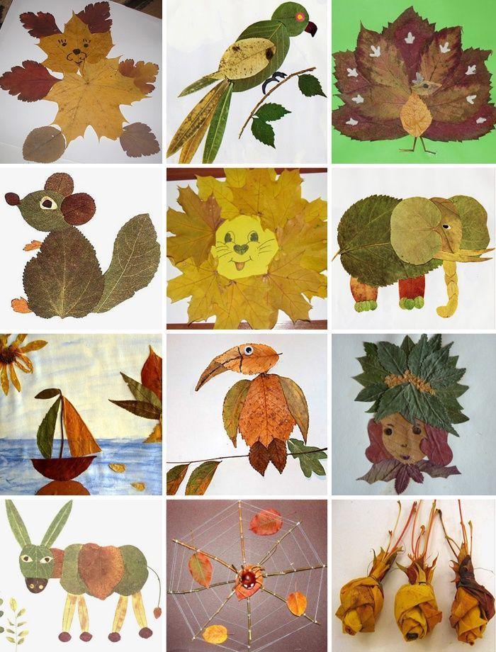 Поздравления, картинки из осенних листьев своими руками для детей