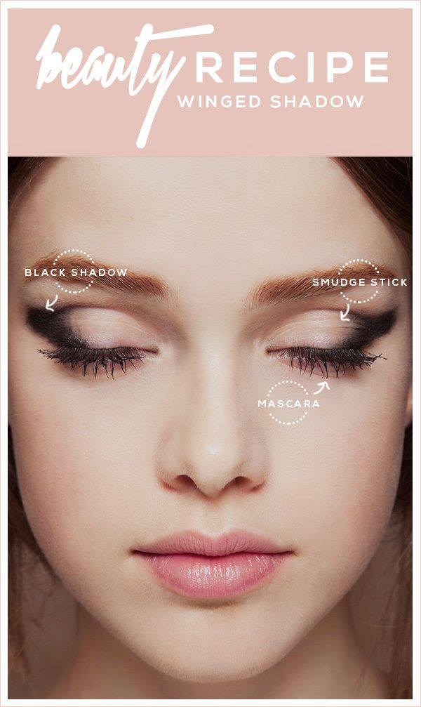 Beauty Recipe: Winged Eyeshadow