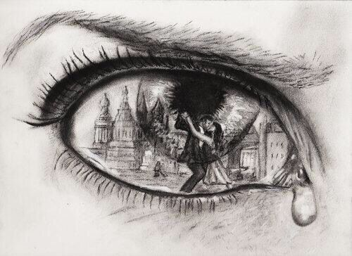 I absolutely love this sketch/photograph. It holds such deep meaning with multiple feelings,expressions, and creativity. Pure talent for who ever drew it.  -xXx