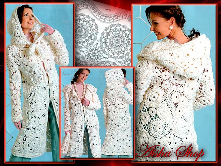 Crochet Patterns Russian eBook Irish Lace Shawl Dresses Blouses Skirts ...