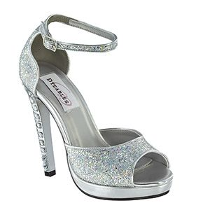 Dyeables 35814 | Silver Platform Shoes | Silver Prom Shoes | Silver Homecoming Shoes | Prom Dresses | www.GownGarden.com
