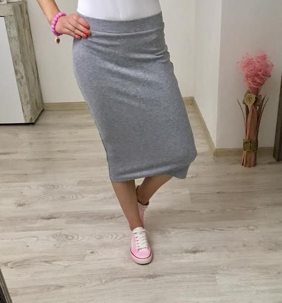 Tepláková sukňa šedá