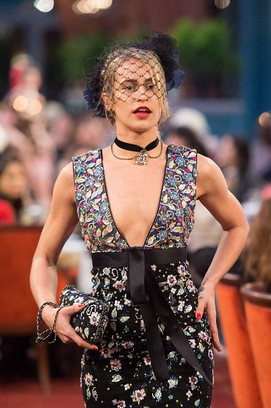 Chanel Pre-Fall 2017 | Alice Dellal walks the runway during the 'Chanel Collection des Metiers d'Art 2016/17 Paris Cosmopolite' Show