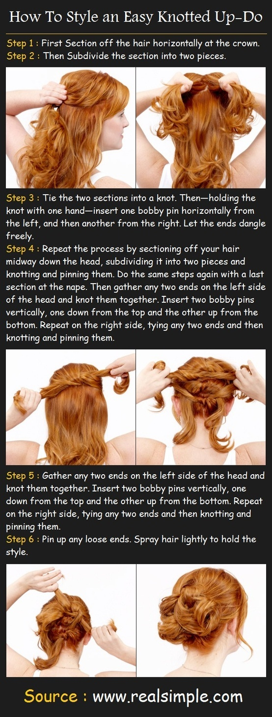How To Style an Easy Knotted Up-Do | Pinterest Tutorials