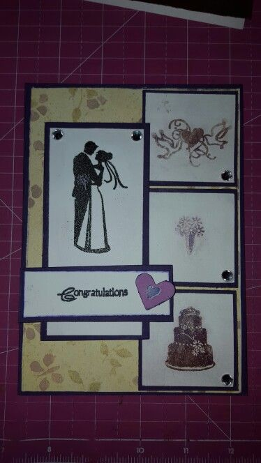 Wedding Card Using Ss Perfect Pearls Violet And The Inkaado Stamp Set Handmade Diy