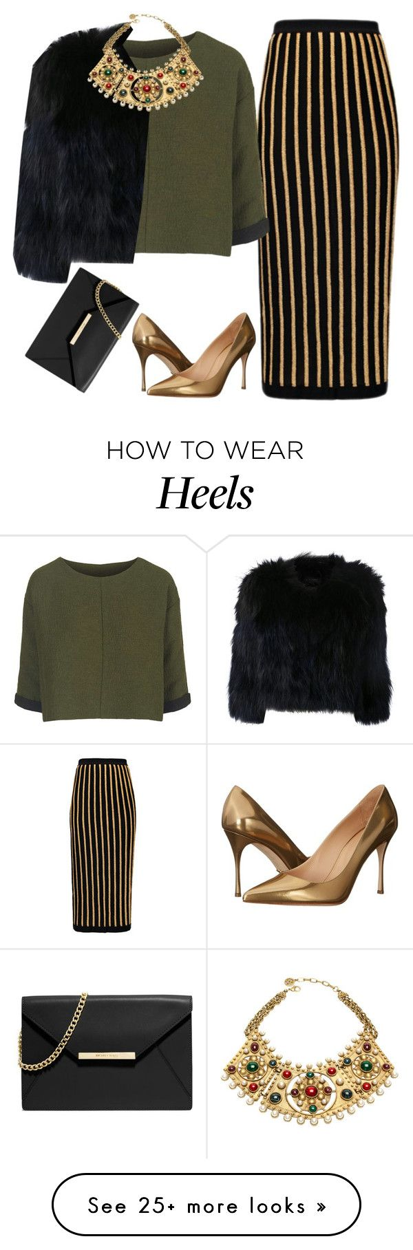 """""""Untitled #1688"""" by lauraafreedom on Polyvore featuring Sergio Rossi, Balmain, Topshop, H Brand, Ben-Amun and MICHAEL Michael Kors"""