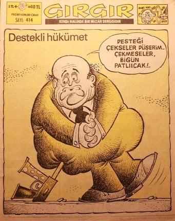 Eski siyasi karikatürler (GIRGIR) #istanlook #nostalji