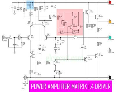 This is High Power Amplifier Output upto 3000W power output. The Power Amplifier Matrix 1.4 has a character flat voice with low DCO (DC Offset) and low THD (Total Harmonic Distortion), visit here to view circuit diagram and PCB Layout design.