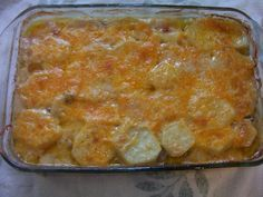 Seriously Comforting - Ground Beef, and Taters  Casserole from Food.com: An old farm recipe, updated to today's fast paced life. This is not a gourmet meal, but what it does do, is give you and your family a filling and good comforting meal. Don't hesitate to use already prepared store bought sliced potatoes, or pare and slice potatoes prior to when needed, keeping in cold water.