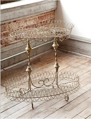 Love this French Wire Fleamarket Plant stand..