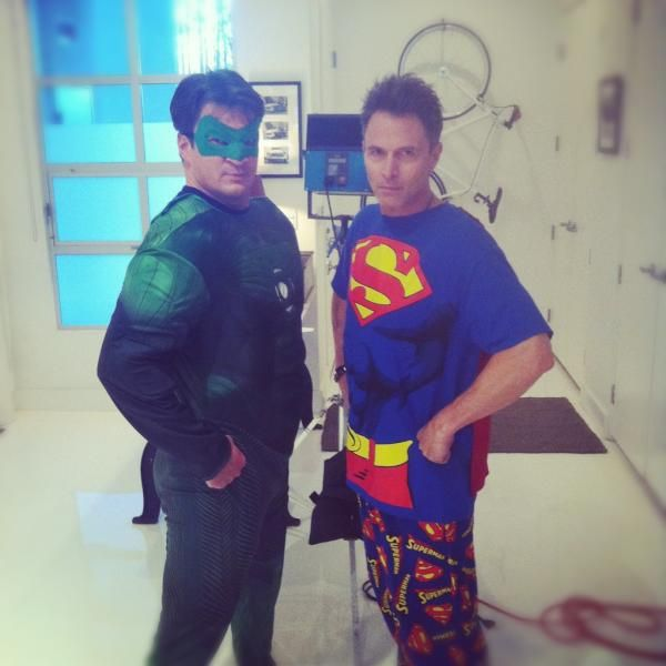 NATHAN FILLION as Green Lantern. AND Tim Daly as Superman. WIN WIN!