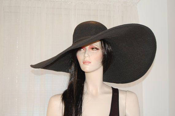XL Brim Vintage Black Ultrabraid Woman's Sun Hat by TOMMELSELeSAGE, $45.00