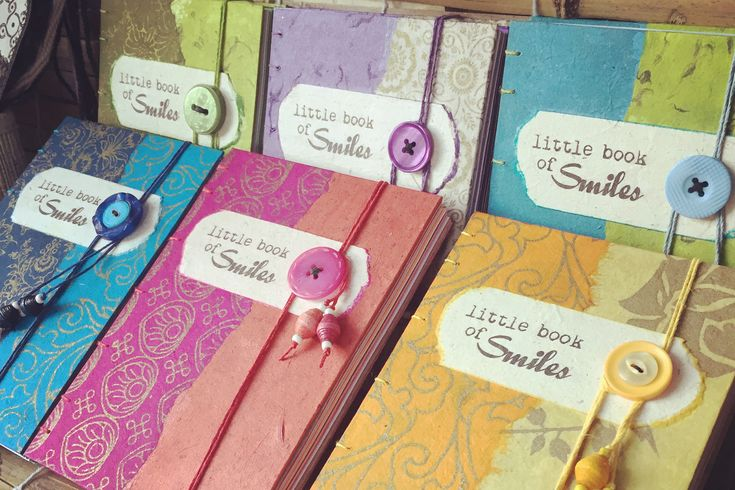 Gorgeous coptic bound handcrafted memory journals by Little Deer Studio