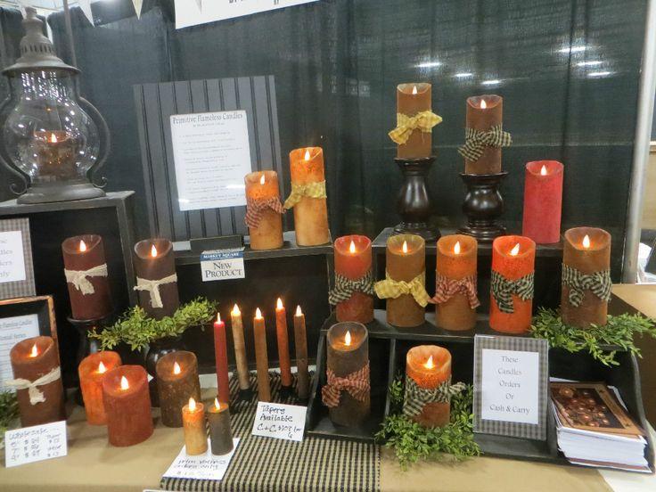 Primitive Flameless Candles Country Primitive Home Decor Primitive Pinterest Decor