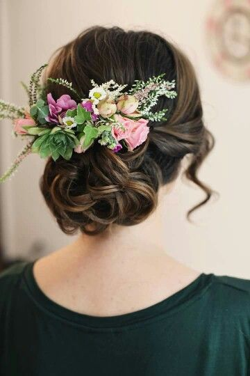 Flowers in her hair by Emilia Maghiar