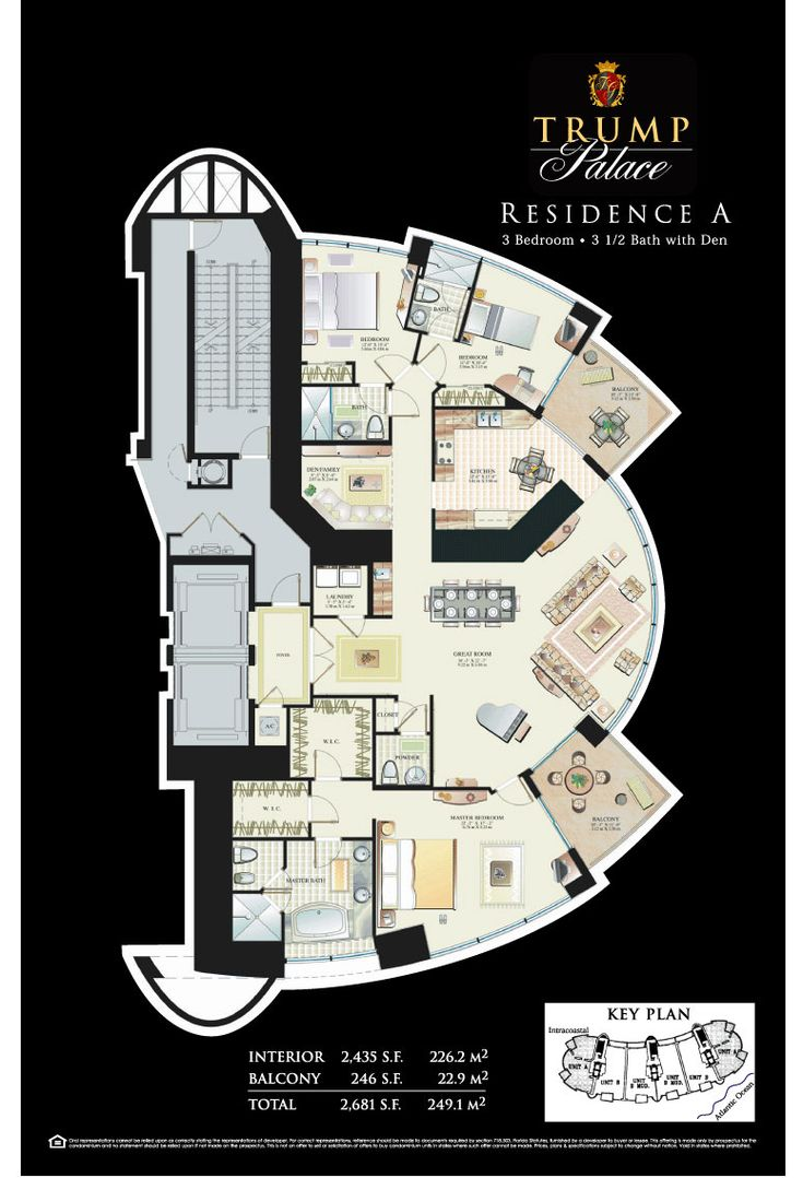 Trump residence a house plans design pinterest trump for Palace house plans
