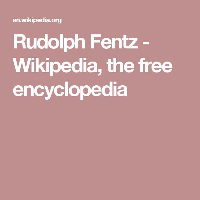 Rudolph Fentz - Wikipedia, the free encyclopedia