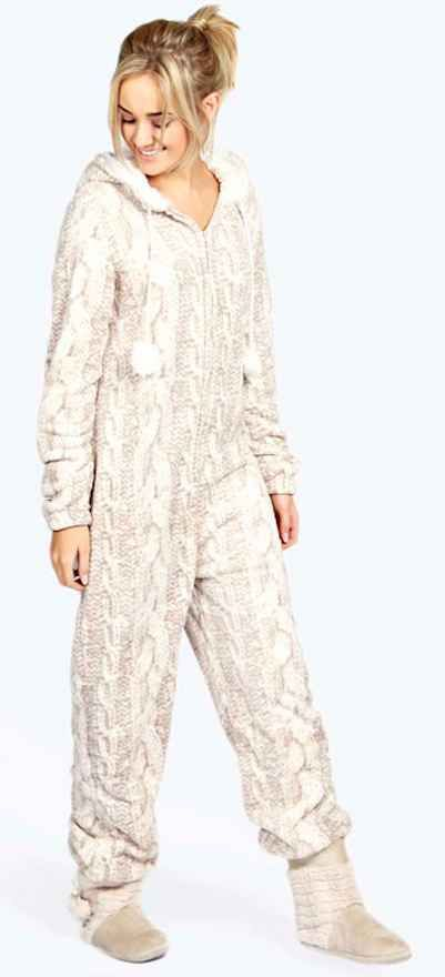 Luxe Cable Knit Onesie