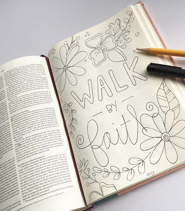 Bible Journaling by Ashley @magmagandme | 2 Corinthians 5:7