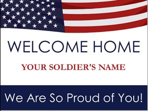 Free Welcome Home Banners...just pay shipping! - I got one for Mossman. You can also design your own :) 8 week turn around time.
