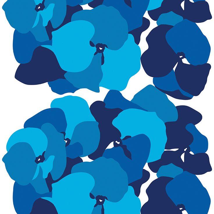 Malva Blue // Metsovaara Premium Print collection from Materialised www.materialised.com  #metsovaara #print #collection #premium #pattern #textile #fabric #interiordesign #materialised