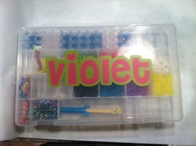 Rainbow Loom Case from Joann Vinyl Lettering Silhouette Cameo Font: Cheri