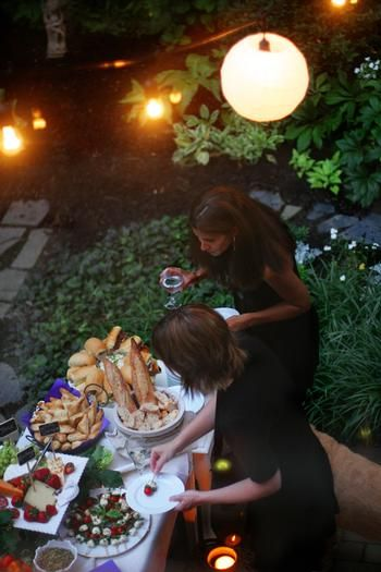 Garden Cocktail Party- because food just tastes better eaten outside