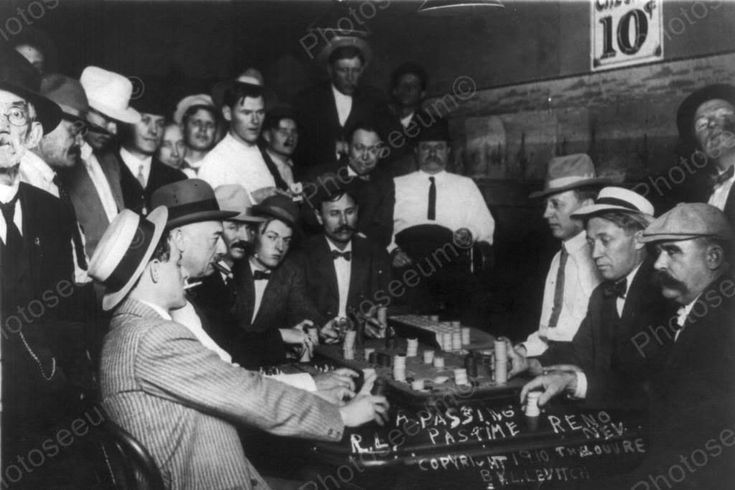 Nevada Casino Card Game 1910s 4x6 Reprint Of Old Photo – Photoseeum