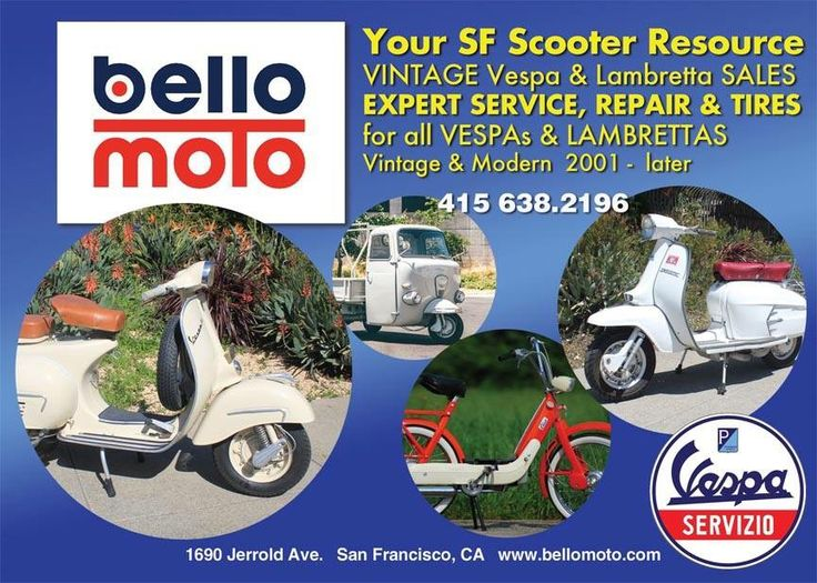 Looking for some to service your Vespa? Whether you have a  vintage or late model Vespa, we offer expert work at fair prices and same or next day service for most repairs.   #SanFrancisco #ItalianClassic #Scooterholic  #SFBusiness #Vespa #VintageScooter #Lambrettas #Vintage #Moped #RestoredScooter #ScooterForSale #PaintJob #VintageScooterService #VintageScooter #ScooterRepair