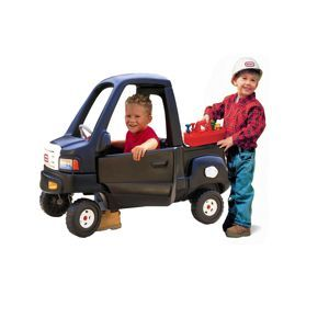 Classic Pickup Truck with Bonus Construction Helmet and Tool Set from #littletikes