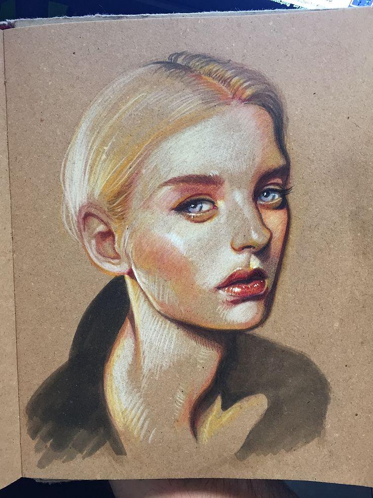 Portrait sketch on Behance
