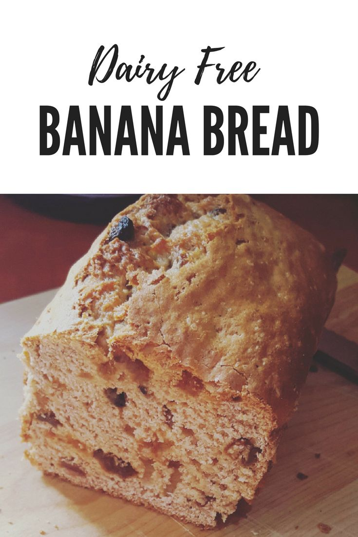 Come and find the recipe to this yummy dairy free banana bread. Very easy to make and you can find the ingredients easily in your cupboards!
