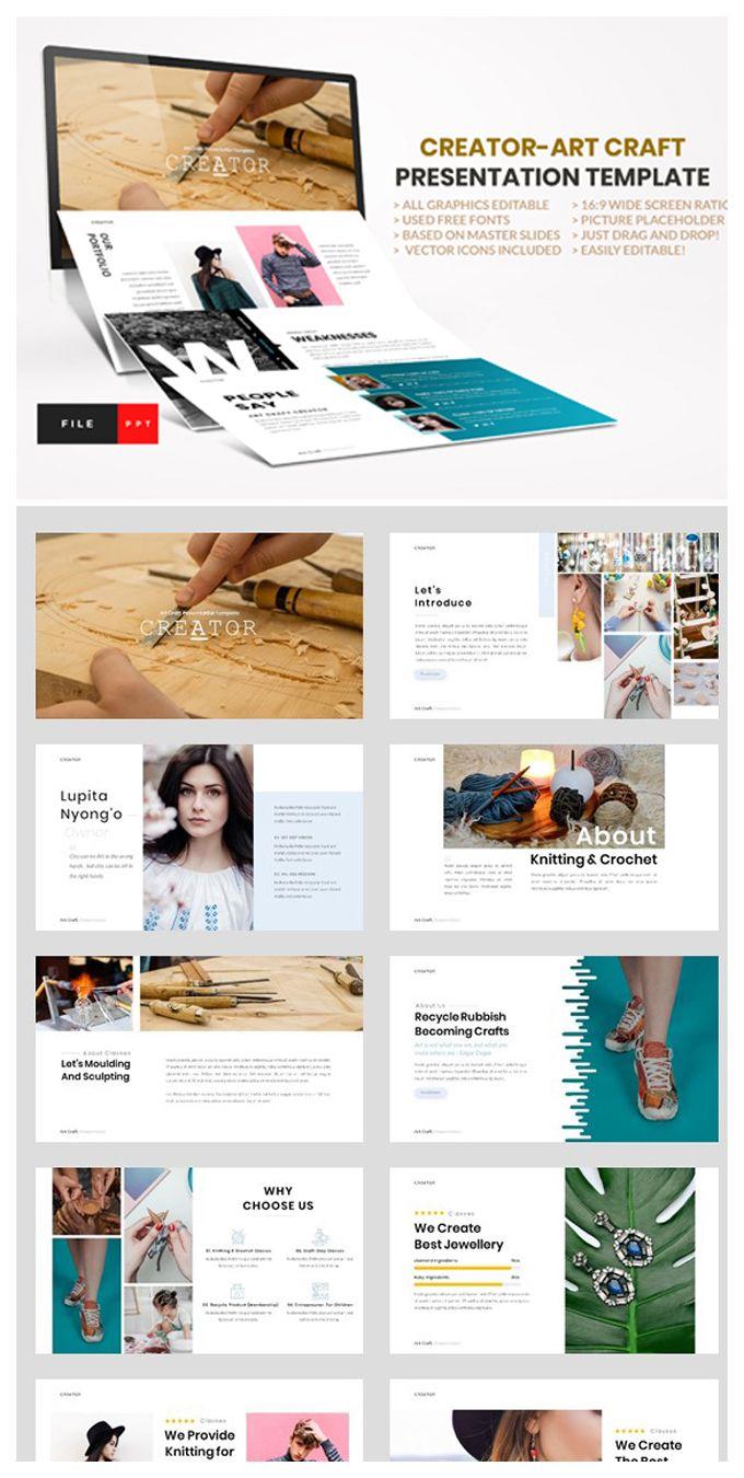Creator Art Craft Powerpoint Presentation Layout Free Web Fonts Powerpoint Design