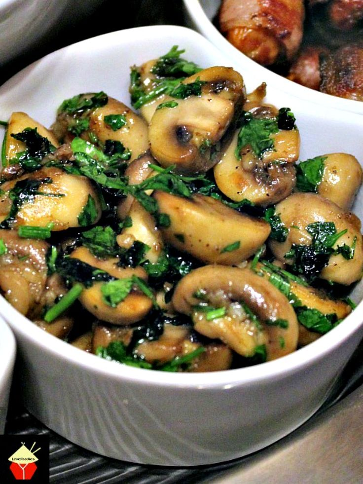 Champinones Al Ajillo, Spanish Garlic Mushrooms is a wonderful Tapas dish, often served as party food. Easy and quick to make and fantastic flavors. Also great as a side dish! | Lovefoodies.com