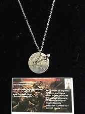 "Supernatural Hand Stamped ""My Other Ride Is A 67 Impala"" With Car Charm Necklace"