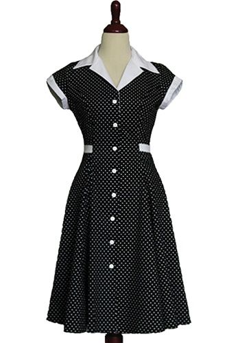 Reminds me of an upscale 50s maid uniform - in a good way!